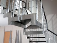 Straight Open staircase METROPOL - RINTAL