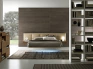 Double bed with tufted headboard WING_SYSTEM | Bed with tufted headboard - Presotto Industrie Mobili