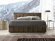Upholstered leather double bed with tufted headboard DADO | Bed with tufted headboard - Presotto Industrie Mobili