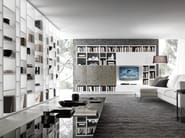 Sectional lacquered TV wall system Pari&Dispari - COMP 325 - Presotto Industrie Mobili