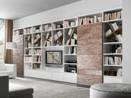 Sectional lacquered TV wall system Pari&Dispari - COMP 335 - Presotto Industrie Mobili