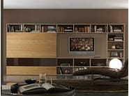 Sectional lacquered TV wall system Pari&Dispari - COMP 336 - Presotto Industrie Mobili
