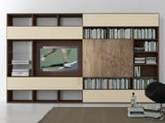 Sectional lacquered TV wall system Pari&Dispari - COMP 326 - Presotto Industrie Mobili