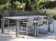 Rectangular dining table CHROMINOX | Table - Joli