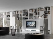 Sectional lacquered TV wall system Pari&Dispari - COMP 332 - Presotto Industrie Mobili
