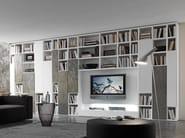 Sectional lacquered TV wall system Pari&Dispari - COMP 332 - Presotto Industrie Mobili