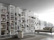 Open wall-mounted sectional bookcase Pari&Dispari - COMP 340 - Presotto Industrie Mobili