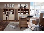 Walnut writing desk with drawers XELO | Writing desk - Hülsta-Werke Hüls