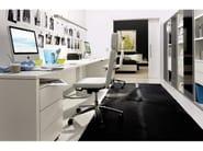 Tall lacquered glass office shelving MEGA-DESIGN | Office shelving - Hülsta-Werke Hüls