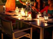 Rectangular aluminium garden table STOCKHOLM | Rectangular table - Sérénité Luxury Monaco