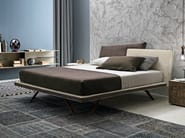Upholstered double bed with removable cover MEETING - Presotto Industrie Mobili