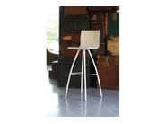 Trestle-based counter stool RIMINI | Counter stool - COLLI CASA
