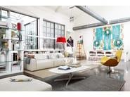 Swivel fabric armchair ELECTA | Swivel armchair - Calligaris