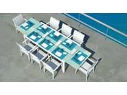 Extending rectangular garden table SENSE | Extending table - ITALY DREAM DESIGN - Kallisté