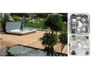 Square hydromassage hot tub 6-seats DREAM - GRUPPO GEROMIN