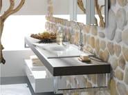 Single wooden washbasin countertop BETTEROOM TRÄGERPLATTE - Bette