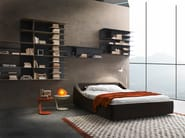 Upholstered fabric double bed BRERA - Presotto Industrie Mobili
