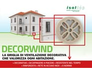 Decorative air vent DECORWIND - POLITOP