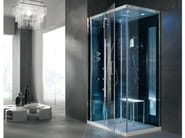 Multifunction crystal steam shower cabin TEMPO AD ANGOLO - HAFRO