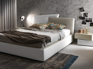 Storage bed with upholstered headboard MEETING_UP - Presotto Industrie Mobili