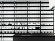 Floor-ceiling mounted shelving unit BROMPTON   Shelving unit - Boffi