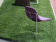 Sled base upholstered chair ARIANNA - ESTEL GROUP