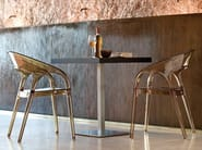 Square stainless steel table INOX SQUARE | Square table - PEDRALI