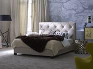Double bed with tufted headboard Basis 18 + OPAL PLUS - Schramm Werkstätten