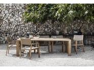 Garden chair with armrests MAZE | Garden chair - Gloster