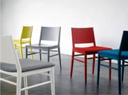 Upholstered lacquered fabric chair TRACY | Fabric chair - BILLIANI