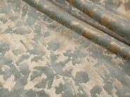 Handmade rectangular custom wool rug TAJ MAHAL GREEN GOLD - EDITION BOUGAINVILLE