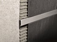 Brushed steel edge profile for walls PROLISTEL ACC | Brushed steel edge profile - PROGRESS PROFILES