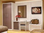 Melamine-faced chipboard wardrobe for hotel rooms FASHION | Wardrobe for hotel rooms - MOBILSPAZIO Contract