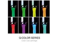 Single handle LED washbasin mixer Q-COLOR | Washbasin mixer - Remer Rubinetterie