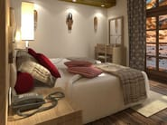 Double bed with high headboard ZEUS | Bed with high headboard - MOBILSPAZIO Contract