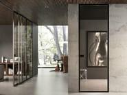 Hinged flush-fitting glass door BISYSTEM   Flush-fitting door - GAROFOLI
