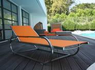Recliner Batyline® garden daybed SUNLOUNGER INOX - Sérénité Luxury Monaco
