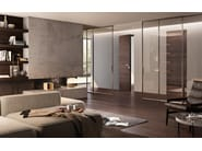 Flush-fitting wenge safety door FILOMURO | Safety door - GAROFOLI