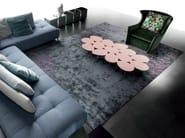 Custom rug in bamboo silk CERVO - ERBA ITALIA
