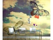 Motif panoramic landscape wallpaper BUTTERFLIES - MyCollection.it