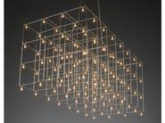 LED nickel pendant lamp UNIVERSE SQUARE - Quasar