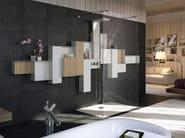 Multifunction steel shower panel OSMOS | Shower panel - Glass 1989