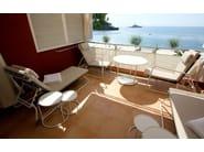 Round aluminium garden side table PANAMA | Garden side table - Sérénité Luxury Monaco
