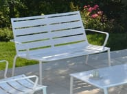 Metal garden bench with armrests LOUNGE | Garden bench - FIAM