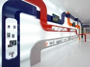 Wall-mounted retail display unit with light PARAPAN® | Retail display unit - PARAPAN by Evonik Para-Chemie
