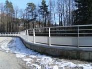 Aluminium Road railing RE - ALUSCALAE