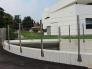 Stainless steel balustrade / Fence Funi BRUGG - C.P. Sistemi