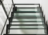 Straight glass and steel Open staircase DOMINO BRIGHT - Fontanot Spa