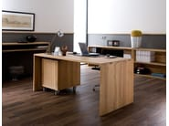 Rectangular solid wood office desk OAK OFFICE | Office desk - Ethnicraft