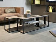 Rectangular iron coffee table MOD - Shake